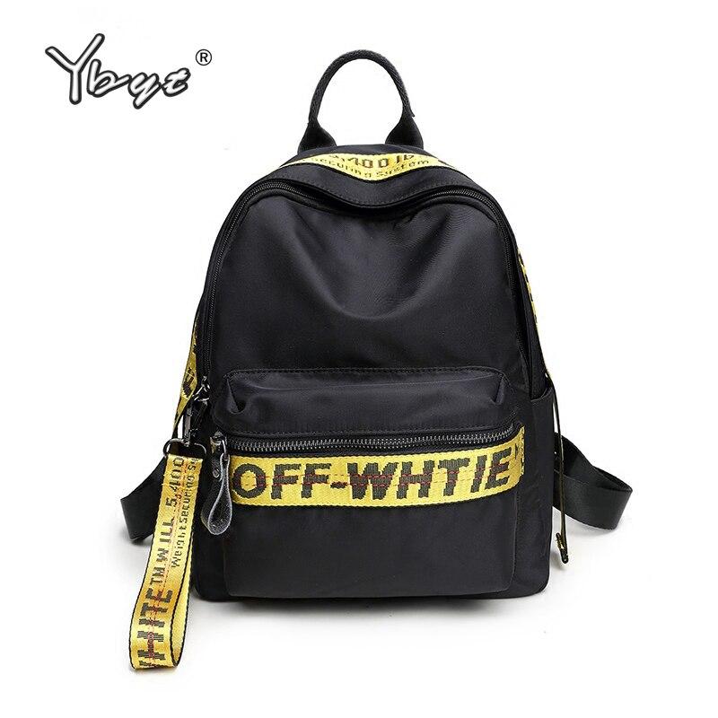 New Casual Preppy Style Women Backpack Letter Panelled Girl School Bag Oxford Backpack Women Travel Bag Student School Backpacks