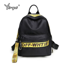 new casual preppy style women backpack letter panelled girl school bag oxford travel student backpacks