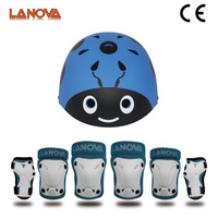 LANOVA Kids Toddler Protective Gear Set Adjustable Helmet Knee Elbow Pads Wrist Guards for Cycling Skating Rollerblading
