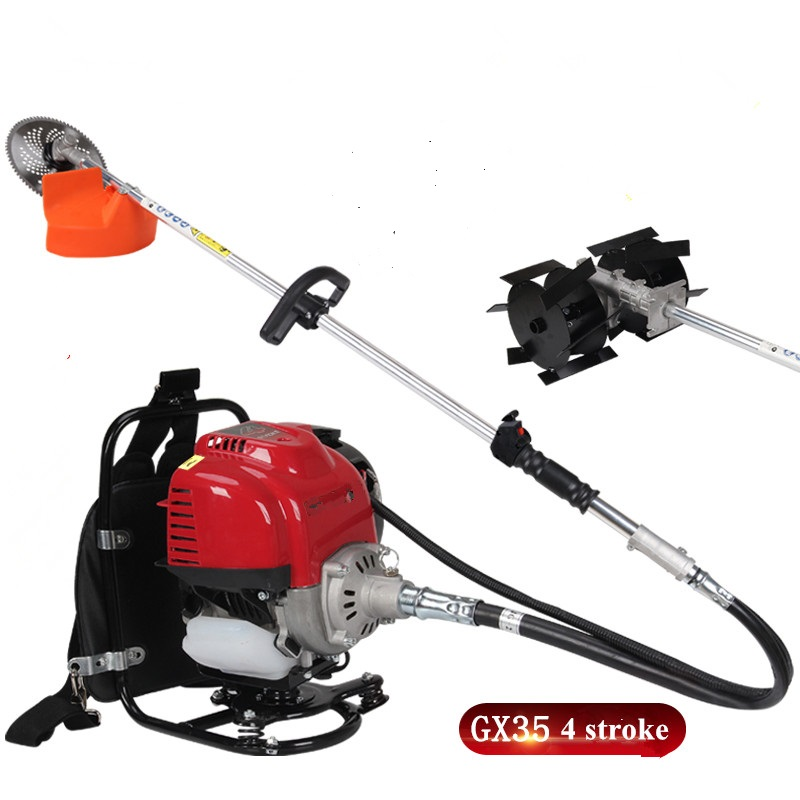 2019 NEW MODEL 4-stroke Big Back Pack  Weed Cutting Machine,farm-use Brush Cutter,grass Machine