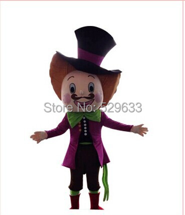 Alice in wonderland Mad hatter mascot costume Carnival costumes dress free shipping
