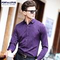 PORT&LOTUS Casual Mens Shirt Long Sleeves Men's Shirts Plaid Thin Shirt For Men Brand Clothing Shirts YT018 83222