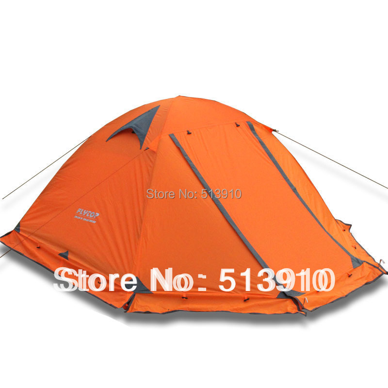 Winter tent with snow skirt 2 3persons aluminum pole double layer double door windproof big rain
