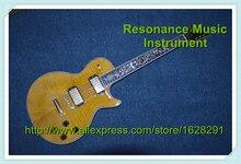 Top Qualität China Gitarre LP Flamed Maple in Gelb Goldene Hardware & Linkshänder Erhältlich