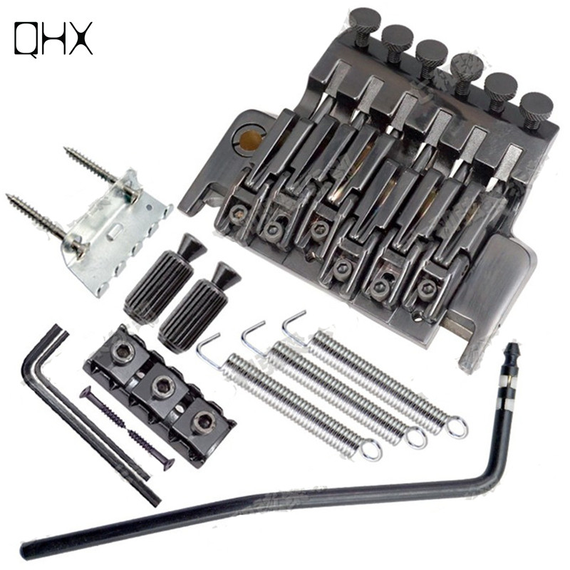 QHX Floyd Rose Tremolo Bridge Double Locking Systyem Pulled guitar strings Bridge Electric guitar Bridge guitar accessories part new gold floyd rose lic electric guitar tremolo bridge double locking system free shipping wholesales