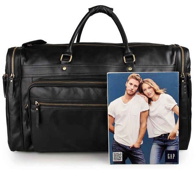J.M.D 100% Genuine Leather Unique Tote Men's Travel Bag Large Capacity Classic Travel Duffel 7317-1A