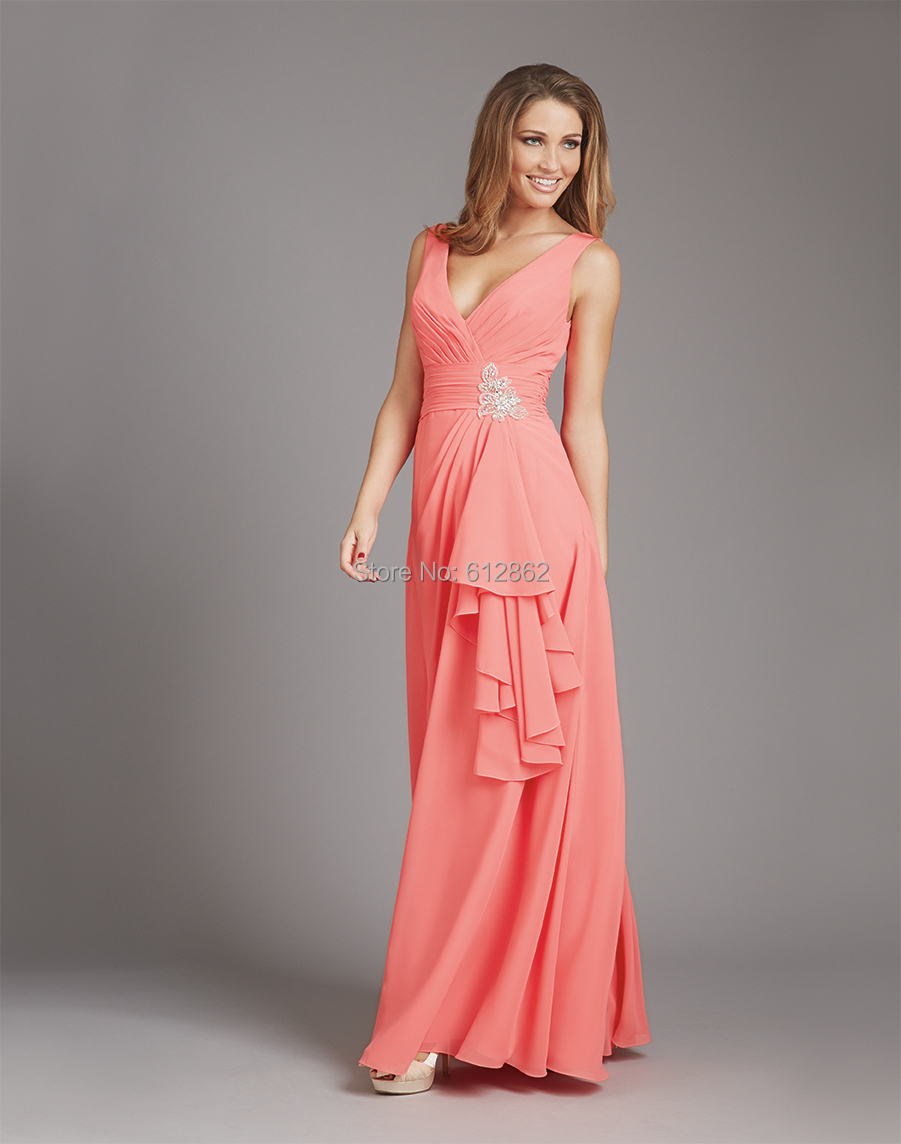 Asombroso Vestidos De Dama Brillante Coral Galería - Colección del ...