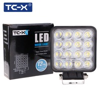 TC-X LED Verlichting 16x3 W Vierkante Offroad Led 12/24 V Extra Licht Draagbare Schijnwerper Motor Tractor Truck Auto Styling Groothandel