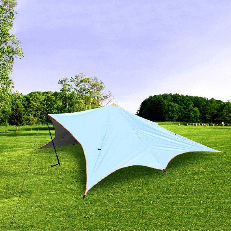 Plage UV Protection tente parasol multifonctionnel Camping étanche ombre abri bâche tente auvent soleil extérieur jardin auvent