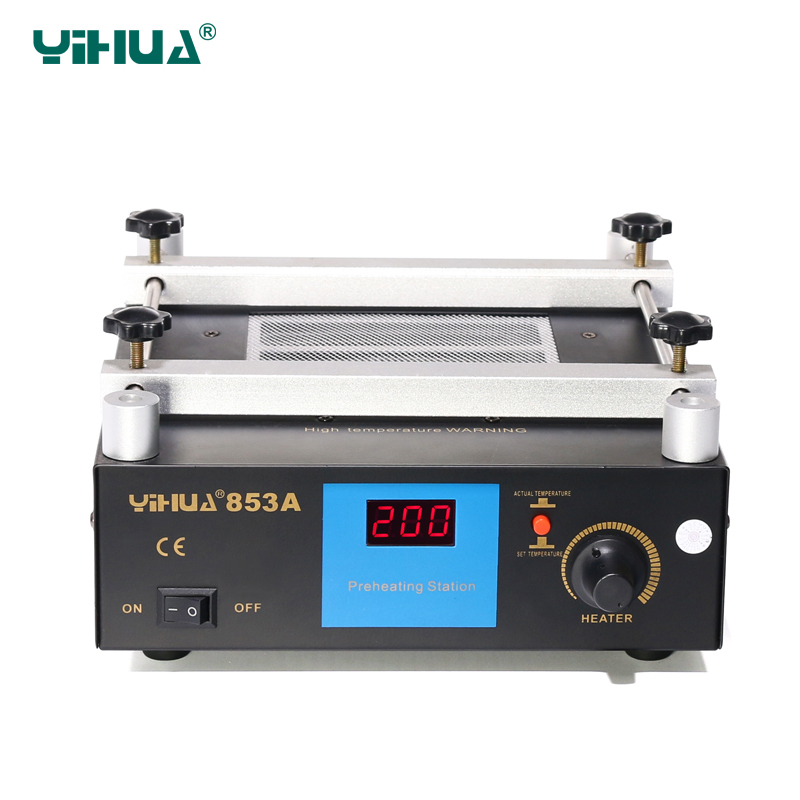 YIHUA 853A BGA rework station High power 600W ESD BGA rework station 110V 220V PCB preheat and desoldering IR preheating station компьютерные аксессуары toyo bga 6 esd