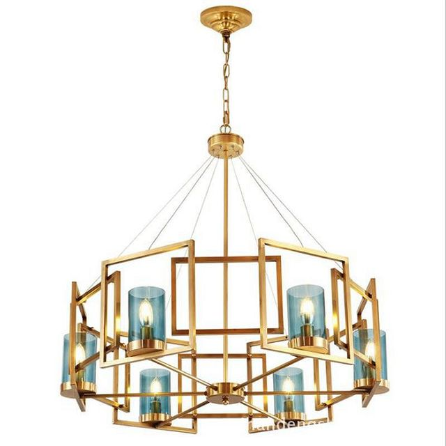 Contemporary Chandelier, Luxury Brass Modern American Style Dining Room  Lighting Fixture Pendant Lamp Light For Bedroom