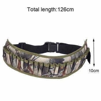 Military 28 Round Tactical Shotgun Shell Buckle Belt Holder Waist 12GA Ammo Pouch Camo Bullet Strap with Inner Zipper Pocket 4
