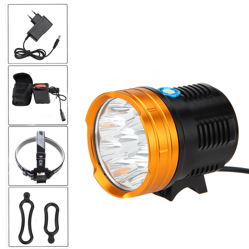 18000 LM 9x XM-R8 LED Torch Front Headlight Led Head Lamp Headlamp 4X26650 lumiparty 4000lm headlight cree t6 led head lamp headlamp linterna torch led flashlights biking fishing torch for 18650 battery
