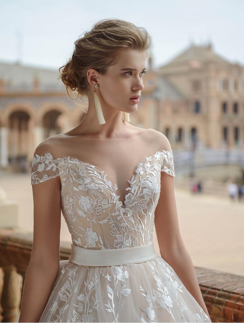 Eslieb Hochzeitskleid High end Custom made Lace Wedding Dresses 2019 A Line Floor Length Wedding Dress
