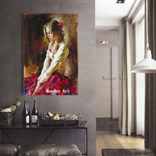 Fashion Art Hand Painted Nude Girl Oil Painting On Canvas Pop Modern Wall Pictures For Living Room Home Decoration No Framed