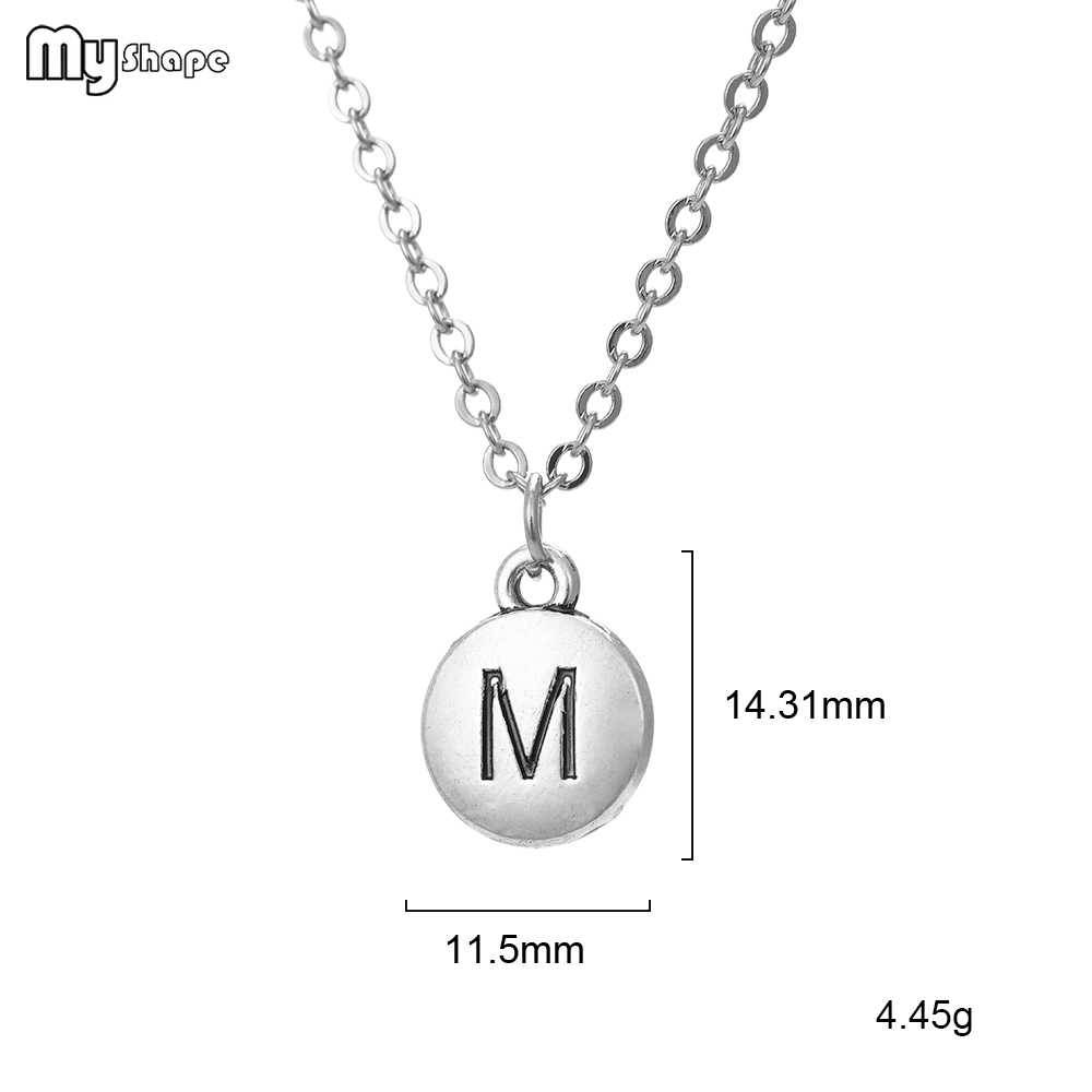 รูปร่างของฉัน 2019 ขนาดเล็กความหมาย M และ R ตัวอักษรจี้ Twist Chain เครื่องประดับคอสร้อยคอ