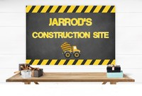 custom Construction Birthday Dump Truck Striped backdrops High quality Computer print party background