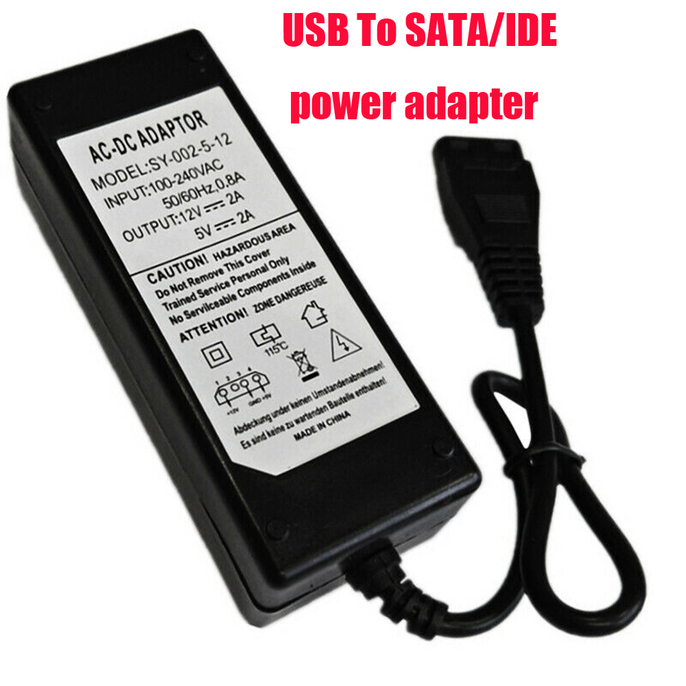 USB To SATA/IDE Switching Adapter AC 110-220V Power Supply DC 5V 2A Parallel Port Power Adapter For Optical Drive Hard Disk