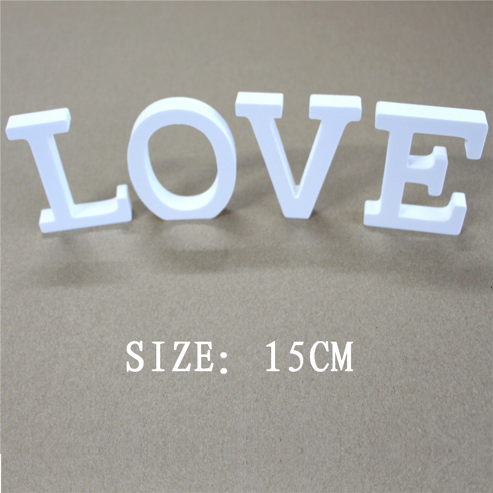 1pcs Home Decoration Artificial  Wood Letters Tuba size Height 15cm wooden Letters Wedding Birthday wedding decoration letter