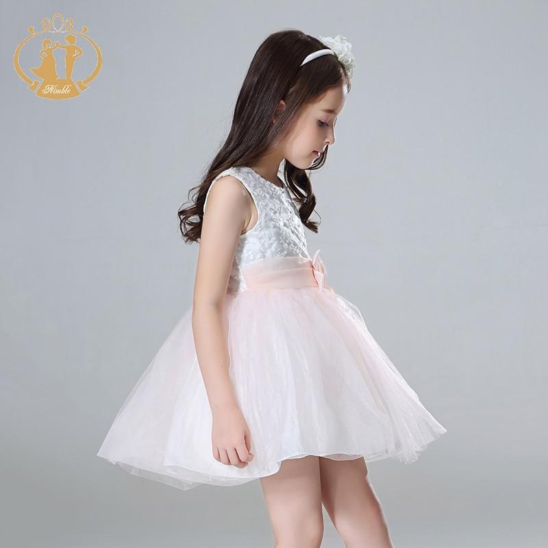 Nimble girls dress roupas infantis menina kids dresses for girls robe fille unicorn party girl dress vestidos princess dress