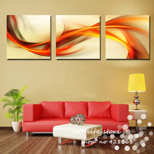 3 Panel more big size Hot Sell Modern Wall Painting abstract 60cm ...