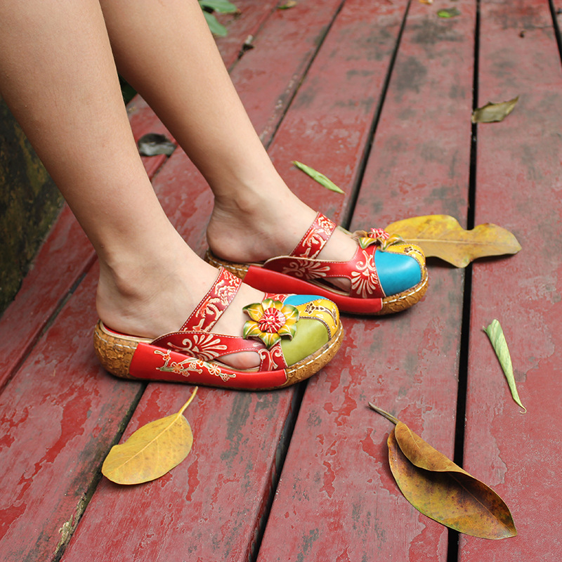 summer sandals genuine leather shoes women thick heel platform sandals for women slippers ethnic flat sandals flip flopsummer sandals genuine leather shoes women thick heel platform sandals for women slippers ethnic flat sandals flip flop