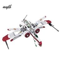 Mylb Star Wars Space Battle Captain Jag Clone Pilot R4 P44 ARC 170 Fighter Assembled Toy