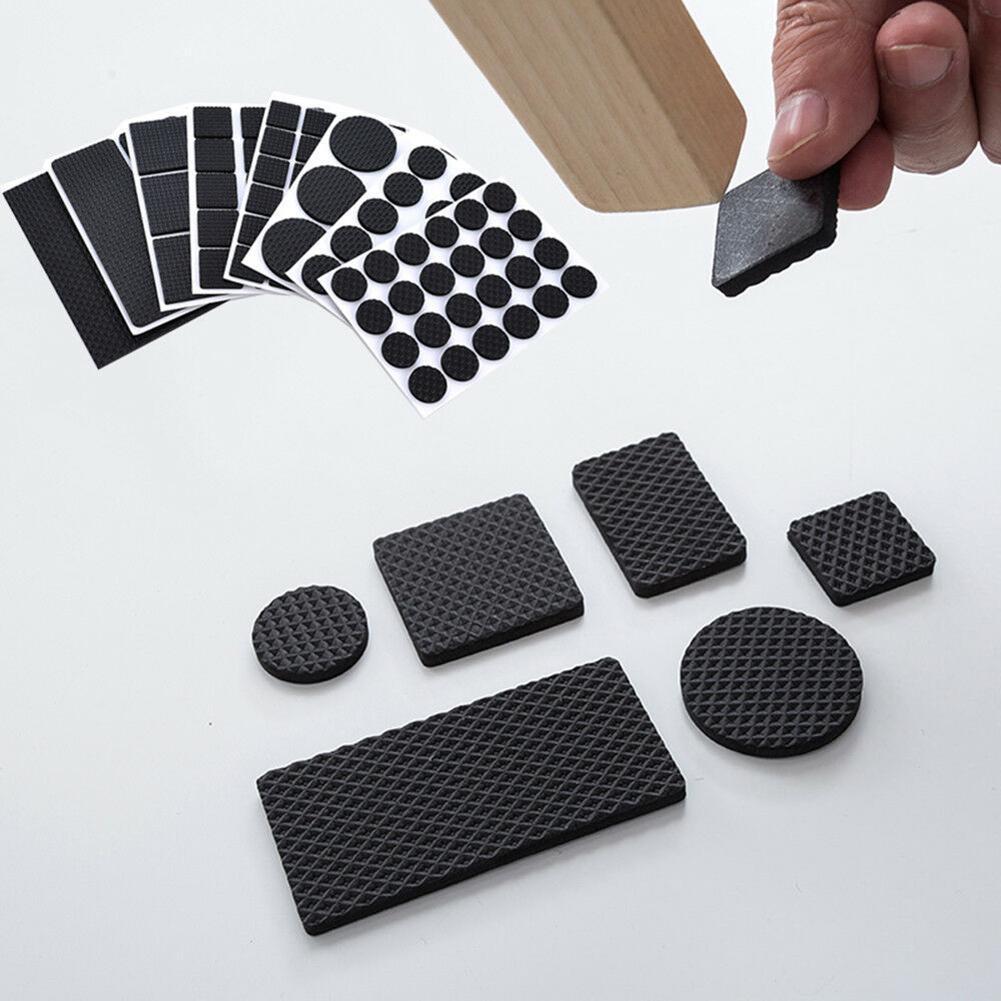 Furniture Rubber Leg Feet Felt Pads Anti Slip Self Adhesive For Sofa Chair/Table/Desk Floor Damper Pads Protectors Mat