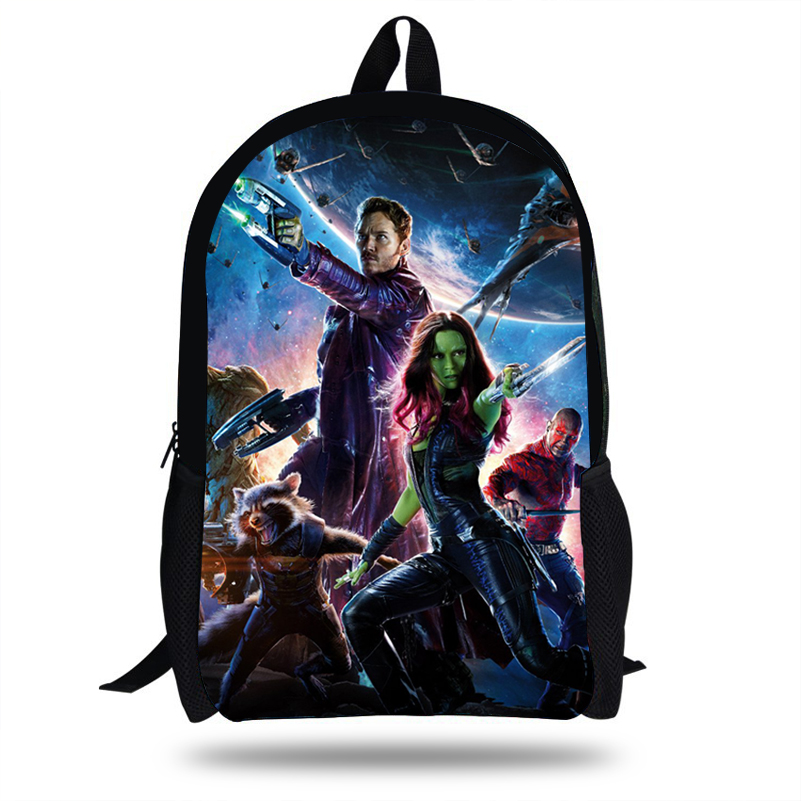 16-Inch Popular School Bags For Boys the Avengers Backpacks Guardians of  the galaxy Bag For Girls Travel Bag Teenagers gift