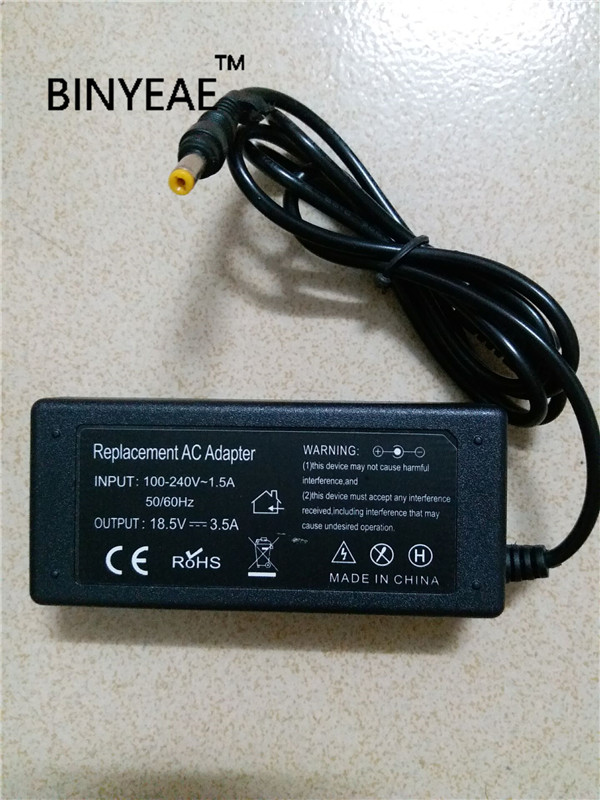 18,5 V 3.5A 65 Вт AC/DC Мощность адаптер Зарядное устройство для hp dv8000 M300 M700 TC1000 N110