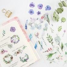 6pcs/lot New Midsummer Dress Creative Decoration Notebook  DIY Albums Scrapbooking Diary Sticker