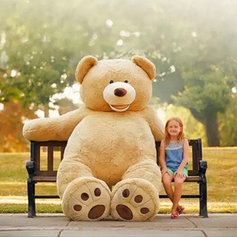Atacado 1 m-2.6 m Gigante Americano Pele de Urso de Pelúcia Urso de Pelúcia Macia Brinquedos Para As Crianças Brinquedos Do Bebê Boa qualidade Preço Barato