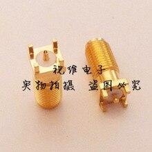 SMA-KE-16.8 (SMA-KHD) Head Straight Socket SMA SMT Soldering PCB Board Female Outer Screw Hole