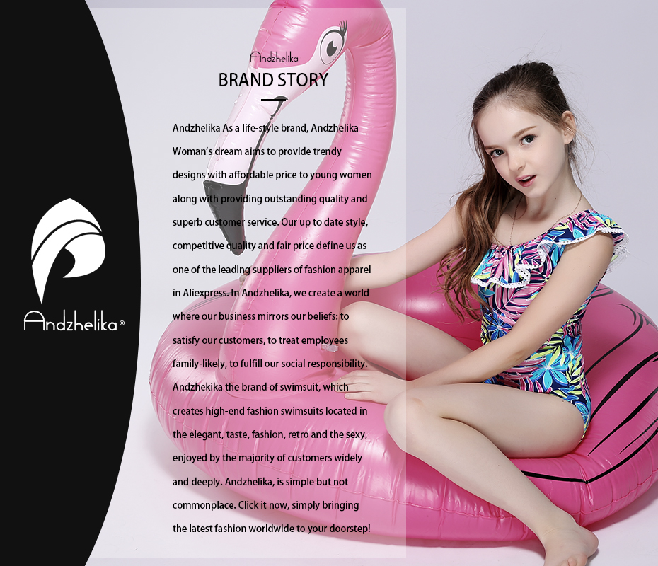 f1e88f7fd Andzhelika Bikini Children's Swimwear Ball Cute Lotus Leaf Dress ...