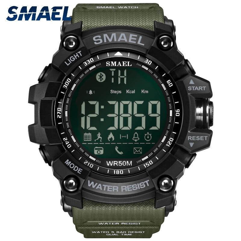 SMAEL Men's Watch Fashion Smart Bluetooth Digital Sports Waterproof Watch Sports Watches Relogio Sport Masculino