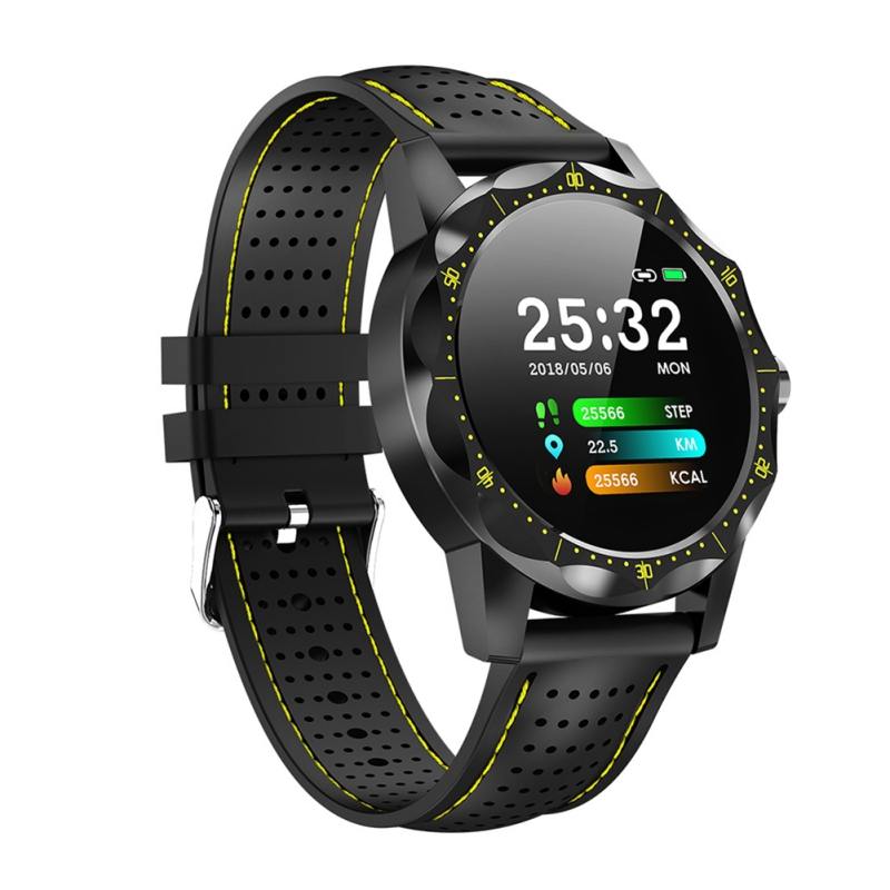 Relógio inteligente Homens IP68 Atividade Rastreador de Fitness Rastreador Smartwatch À Prova D' Água Relógio de ABA para Android IOS iPhone telefone