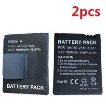 2 Pcs Bateria para Câmera Digital Esporte Gopro Hero 3 3 + Gopro3 AHDBT201 AHDBT301 AHDBT-301 AHDBT-201 Li-Ion Baterias Recarregáveis