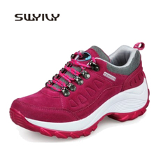 SWYIVY Woman Walking Shoes Platform Wedge Outdoor Breathable 2019 Spring Comfortable Female Fashion Sport Shoe Walking Shoes