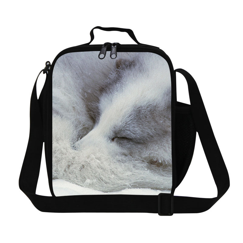 2018 White Fox pack it lunch bags for girls school,fashionable adult's lunch box bag for work,children's animal lunch cooler bag
