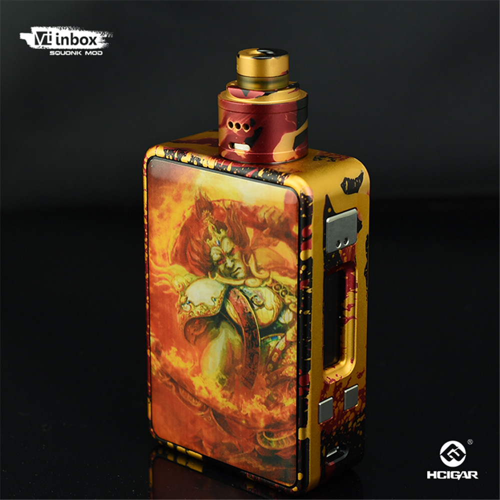 Genuine Hcigar VT Inbox Vape Kit Comes 75W Squonker Box Mod Maze V1.1 RDA Tank Powered by Evolv TC Chip VS VT75 Nano E Cigarette lost vape malstrom v2 bottom feed rda