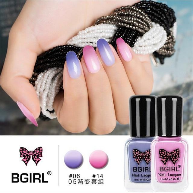20 colores esmalte de Uñas color de esmalte de uñas gradiente de temperatura Popular summercan GZJ02126 cáscara puede rasgar el pegamento de uñas