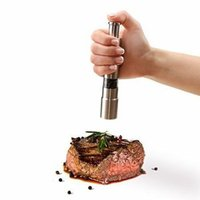 Stainless Steel Electric Kitchen Tool Spice Mills Sauce Salt Pepper Mill Spice Grinder Kitchen Tool AA