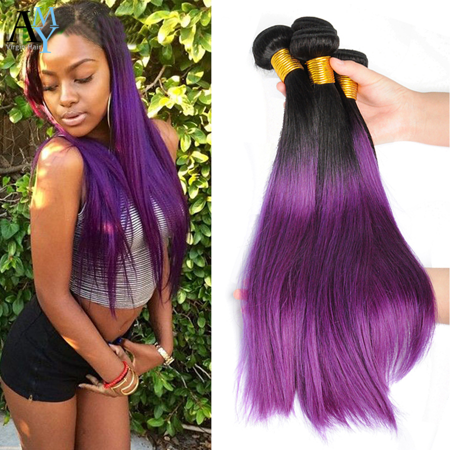 Ombre 1b purple malaysian straight hair purple ombre weave 3 ombre 1b purple malaysian straight hair purple ombre weave 3 bundles 7a two tone cheap human hair malaysian virgin hair straight in hair weaves from hair pmusecretfo Image collections