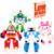 4 unids/set Corea clásicos robot Transformación Juguetes Juguetes de plástico Mejor Gif Para Los Niños regalo de Navidad envío gratis