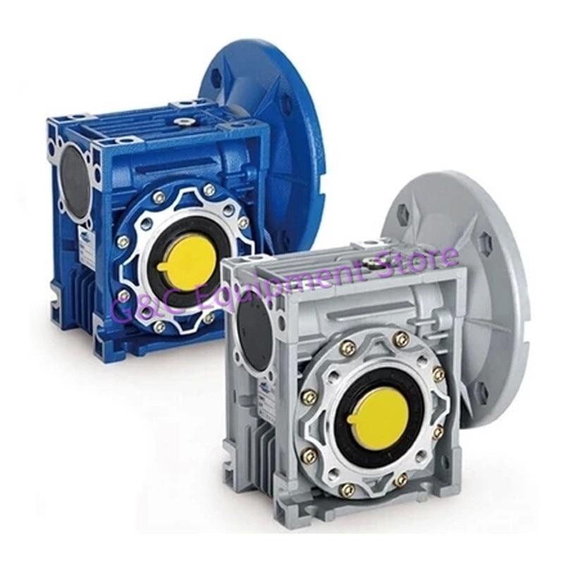 Worm Reducer NMRV050 11mm 14mm 19mm Input Shaft 7 5 1 100 1 Gear Ratio RV50