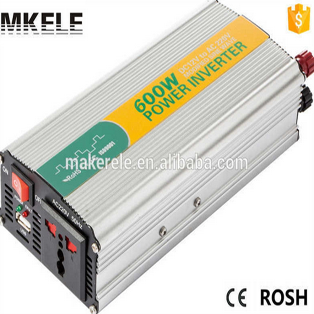 MKM600-121G high efficiency off-grid modifed sine 600watt 12vdc to 120vac single output best car power inverter for laptop