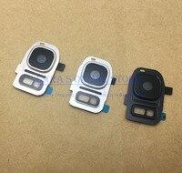 Original Kamera Objektiv Glas Abdeckung mit Kamera Ring Metall Halter Rahmen für Samsung Galaxy S7/S7 Rand S8/ s8 + mit Aufkleber-in Handy-Objektive aus Handys & Telekommunikation bei
