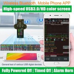 J7-H HD Bluetooth USB 3.0 Color usb tester for Voltmeter ammeter voltage current meter battery charge measure cable resistance