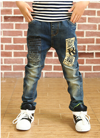2015 New Good Quality Childrens Jeans Pants Spring Autumn Boys Kids Trousers Retail