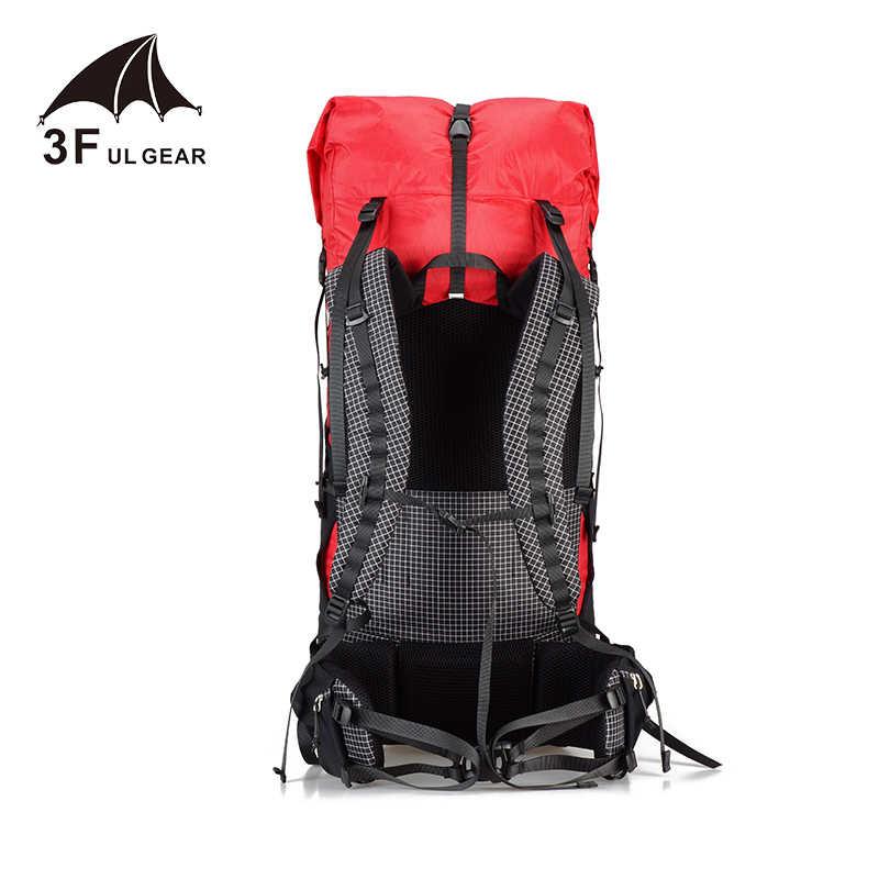 3F UL Gear Guiji 35L 55L Ransel Xpac Ringan Tahan Lama Perjalanan Camping Hiking Outdoor Ultralight Kerangka Paket Ransel
